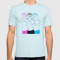 Manóculos Mens Fitted Tee Light Blue SMALL