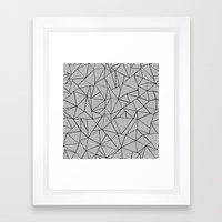 Abstraction Lines #2 Bla… Framed Art Print
