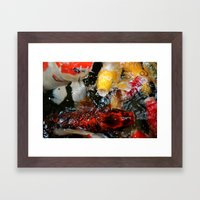 No Fishing Framed Art Print