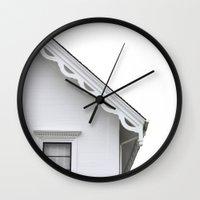 The White Farmhouse Wall Clock