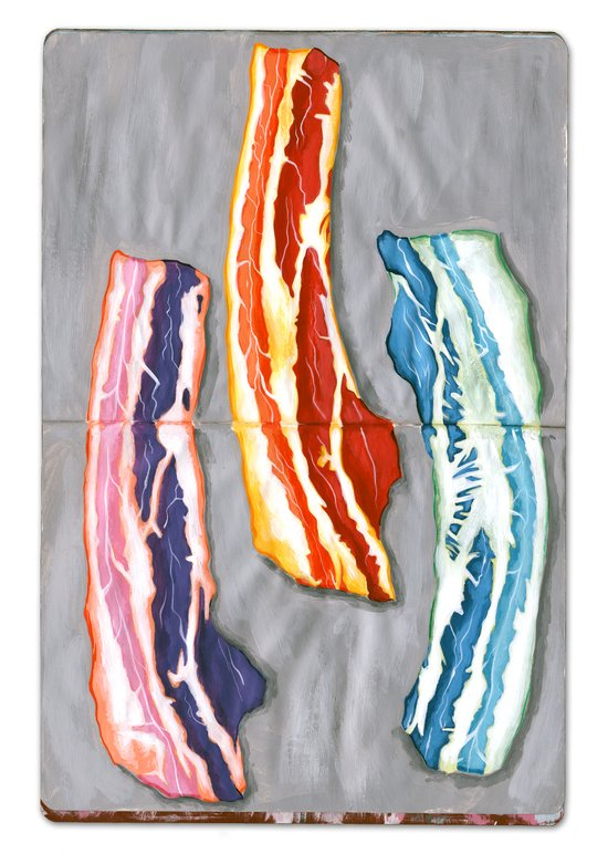 Colorful Bacons Art Print