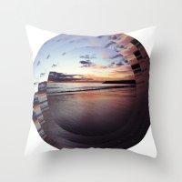 Circular Beach Throw Pillow