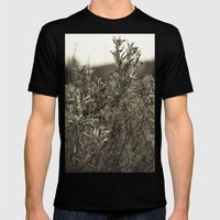 Fall Textures Mens Fitted Tee Black SMALL