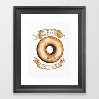 Please, Donut Disturb Framed Art Print