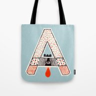 Tote Bag featuring A To Z -