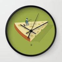 Slice fishing Wall Clock