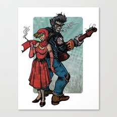 Ginny & Clutch (Little Red Riding Hood Reloaded) Canvas Print