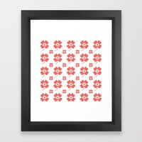 Lucky Flower Coral Framed Art Print