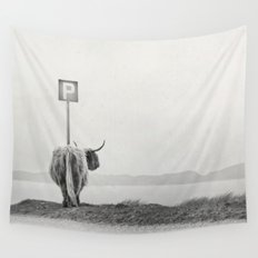 highland visitor Wall Tapestry