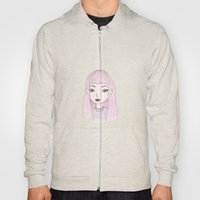 Pink Haired Girl Hoody