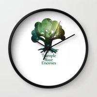 Trample Your Enemies Wall Clock