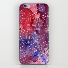 born at the heart of a star iPhone & iPod Skin