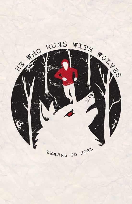 Sterek: He Who Runs With Wolves Art Print