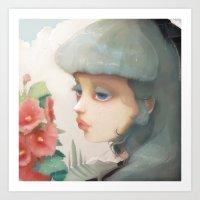 Pensees Et Roses Tremier… Art Print