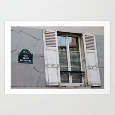 Rue Saint Eleuthere Art Print