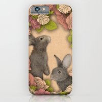 iPhone & iPod Case featuring Rosie Rabbits by Katy Davis