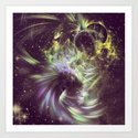 Twisted Time - Black Hole Effects Art Print