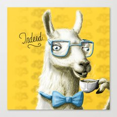 The Fancy Llama Canvas Print