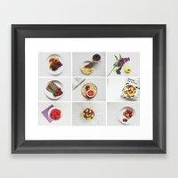 Morning stories - FRUIT set Framed Art Print
