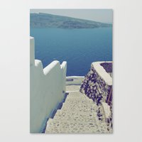 Santorini Stairs III Canvas Print