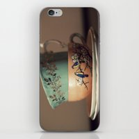 Golden Leaves Teacup iPhone & iPod Skin