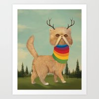 Reversed Nyan Cat.  Art Print