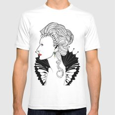 Elizabeth I. White SMALL Mens Fitted Tee