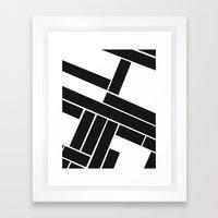 MAKES YOU GO AROUND Framed Art Print