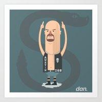 Alphabet Wrestlers - Stone Cold Steve Austin Art Print