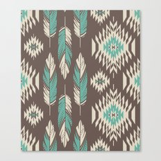 Native Roots - Turquoise & Brown Canvas Print