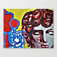 Death And Dionysus Canvas Print