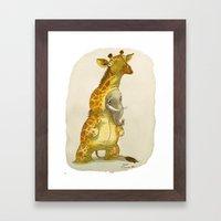 Elephant In A Giraffe Co… Framed Art Print
