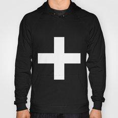 White Plus On Black /// … Hoody