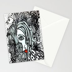 Girl in Bird Stationery Cards