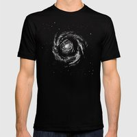 Dark Spiral Mens Fitted Tee Black SMALL