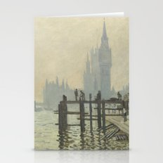 The Thames below Westminster by Claude Monet Stationery Cards