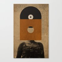 VINYL RECORD HEAD Canvas Print