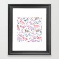Marbling Butterflies Framed Art Print