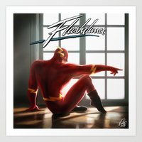 The Flash Dance Art Print