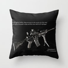 2nd Amendment Throw Pillow