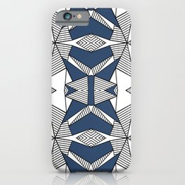 iPhone & iPod Case - Triangle Tribal #2 Navy - Project M