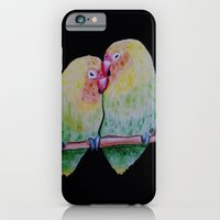 iPhone & iPod Case featuring Lovebirds by gottalovedrawing