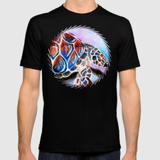 fire shell. SMALL Mens Fitted Tee Black