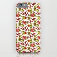 Red sweet flowers iPhone 6 Slim Case
