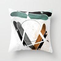 Skatestriangles Throw Pillow
