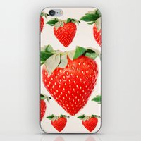strawberry explosion iPhone & iPod Skin