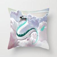 Haku (Spirited Away) Throw Pillow