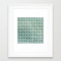 Art Nouveau Grunge Pattern Framed Art Print