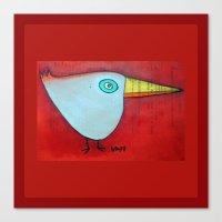 Birdy Blue Canvas Print