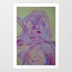 Superimposed Self Study Art Print